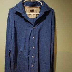 Left Coast Tee Melange Knit Long Sleeve Shirt L